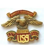 Harley Davidson Eagle Badge Medallion, Made in USA, Est. 1903 Emblem- 3 ... - $21.49