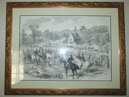 Ornate Gold Gilt Frame FIRST MEET OF THE SEASON OF THE COTSWOLD HOUNDS 1... - $92.57