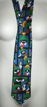 Looney Tunes Neck Tie Mens STAMP COLLECTION Bugs Bunny & Marvin the Mart... - $24.74