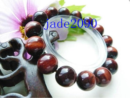 Free Shipping -  Natural Red tiger eye STONE Prayer Beads charm  Bracelet (adjus - $25.99