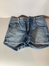AMERICAN EAGLE 00 Light Jean Shorts Super Super Stretch - $12.99