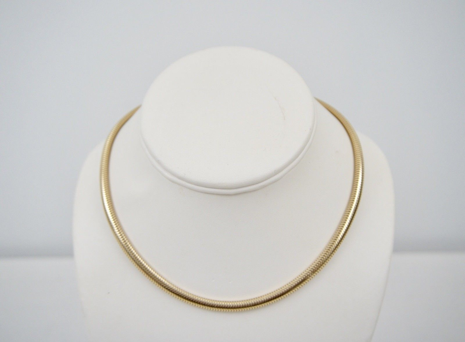2c9bf1fa3 Tiffany & Co 14K Yellow Gold 5 MM Snake Shain 15 3/4 inches Necklace