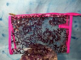 """Tarte Clear Makeup Bag 9"""" X 6"""" X 3""""  with Pink Trim - $9.75"""