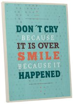 "Pingo World 0107QA0USOA ""Don't Cry Smile"" Inspirational Motivational Happiness Q - $43.51"