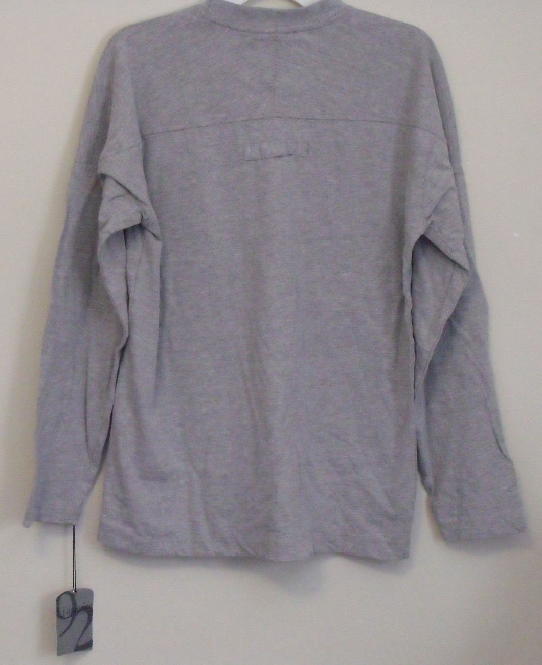 Mens J America NWT Vintage Gray Long Sleeve Crew Neck T Shirt Size Large