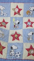 Snoopy Peanuts sports baby crib blanket quilt Lambs & Ivy Woodstock Little Champ - $24.74