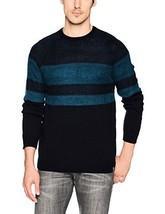 Calvin Klein Men's Merino Texture Stripe Raglan Rib Crew Neck Sweater - $170.35