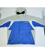 Rossignol Racing Ski Snowboard Jacket Coat Mens L Blue Gray Full Zip Hoo... - $98.88