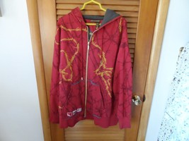 Maroon and gray front zip hoodie with gold rope design size 2xl by RocaWear - $25.00