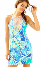 $198 Lilly Pulitzer Pearl Brilliant Blue Wade And Sea Shift Dress - $161.99