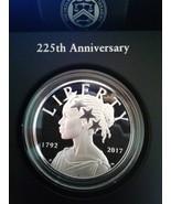 US Mint 225th Anniversary 2017 P American Liberty Silver Medal 99.9 Silv... - $84.99