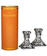 "Waterford Crystal Giftology Collection Lismore 4"" Candlesticks Pair Set of 2 New - $126.23"