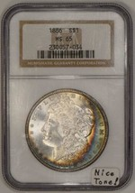 1886 Morgan Dollar NGC MS-65; Nice Tone! - $395.99