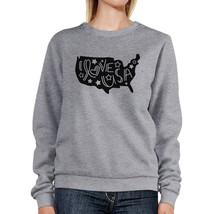 I Love USA Unisex Grey Pullover Sweatshirt Cute 4th Of July Top - $20.99+