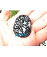 Free Shipping - good luck Natural black jade Carved Dragon and rat Penda... - $19.99