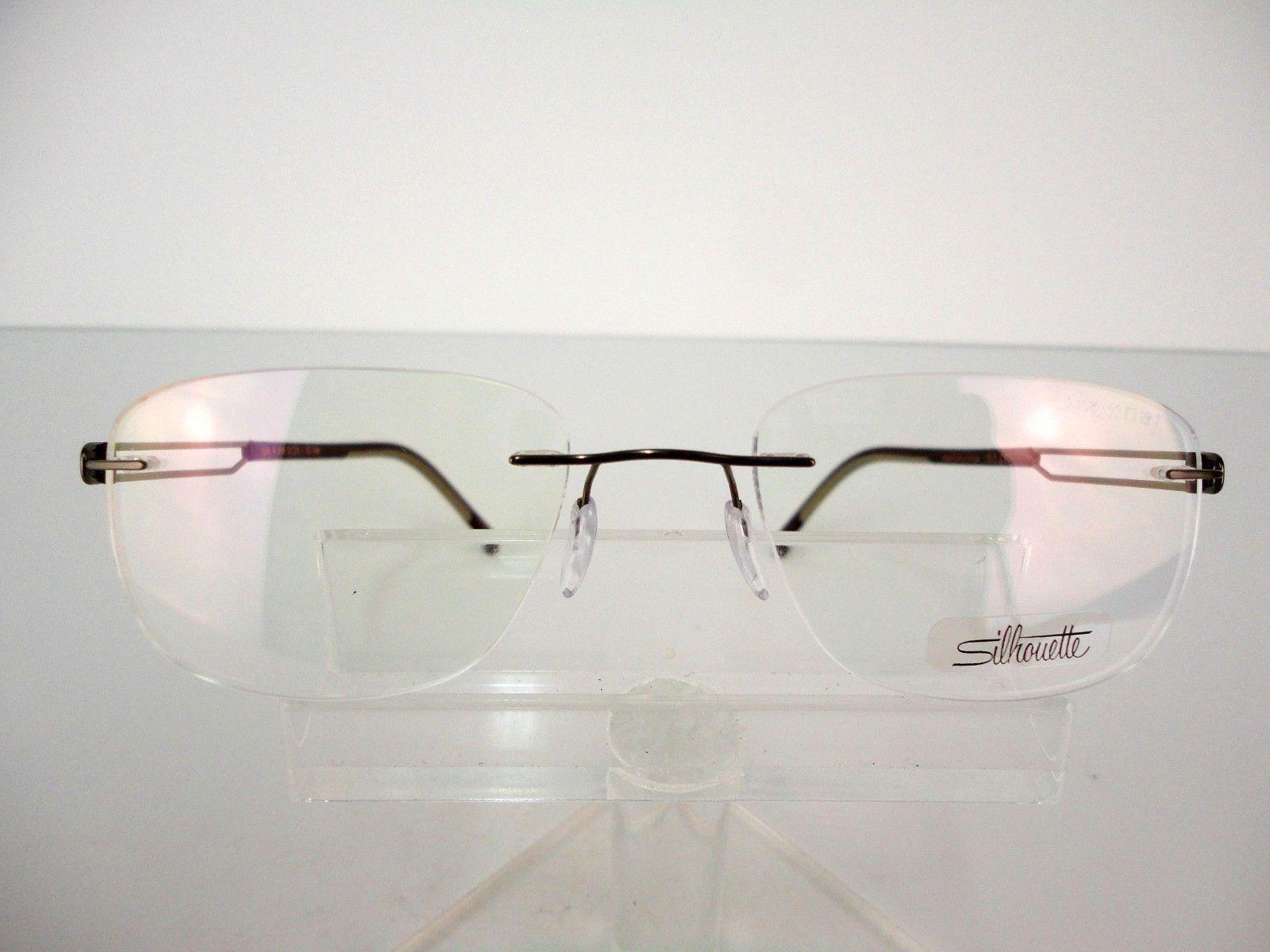 24c3a2df051 Silhouette Titan Profile 5406 6066 (Dark Brown) 52 x 19 Titanium Eyeglass  Frames