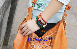 Free Shipping - Tibetan 216 beads mala  , Tibetan Buddhism Colorful sandalwood m - $19.99