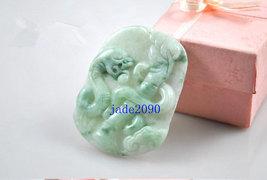 Free Shipping - jadeite jade Snake , Elegant Natural green Snake jadeite jade ch - $25.99