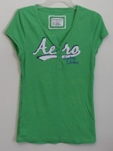 Womens Aeropostale Green Stretch Cap Sleeve Shirt Size XXL - $9.95