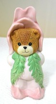 "1989 Lucy Rigg Lucy & Me Enesco Pink Rose Flower Bear 3 1/4""  - $18.32"