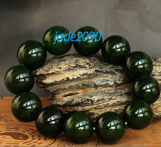 Free Shipping - AAA Grade Natural dark Green Jadeite Jade beads charm be... - $27.99