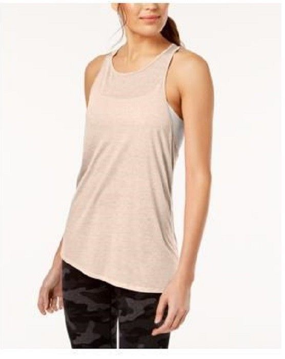 Calvin Klein Performance Crossover-Back Asymmetrical Tank Top, MSRP $28
