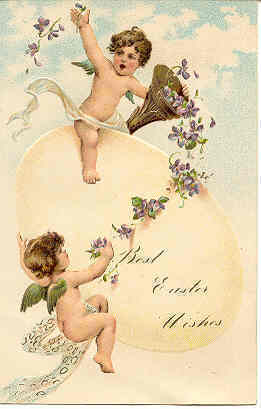 Primary image for  Easter Cherubs Paul Finkenrath of Berlin Vintage Post Card