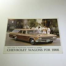 1966 Chevrolet Wagon-Going Caprice 4-Door 2-Seat Wagon Car Catalog Brochure - $17.81