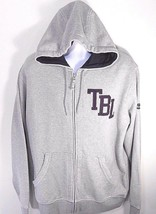 "TIMBERLAND MEN'S GREY ""TBL"" FULL-ZIP HOODIE SWEATSHIRT Sz. L(Large), #48... - $40.99"
