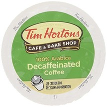 Tim Hortons DECAF Single Serve Coffee 48 Count - Packaging May Vary