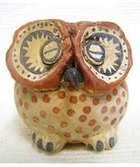 "Handmade Native American Inspired Gourd Art 3.5"" OWL EFFIGY Pot by Rober... - $390.00"