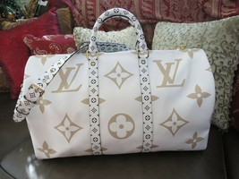 Louis Vuitton Keepall 50 Monogram Giant Limited Edition Hand Bag New wit... - $3,420.07