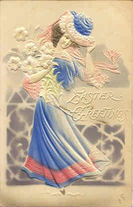 An Easter Beauty Beautiful Women 1906 Vintage Post Card