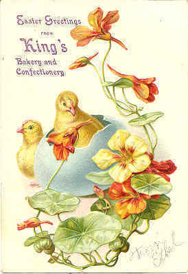 Kings Bakery and Confectionery Trade Card