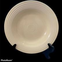 Vintage Fiesta Ivory Deep Plate Rim Soup Homer Laughlin Fiestaware - $24.74