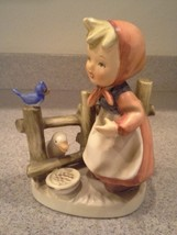 """Beautiful vintage unsigned Erich Stauffer Girl with duck 5"""" tall  - $25.00"""