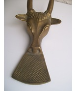 Brass Raging Bull Cowboy Boot Pull Jack Paperweight - $39.95
