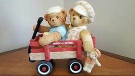 Cherished Teddies Booker & Fletcher Radio Flyer Together, Wherever We Go... - $10.88