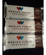 WORLD'S FINEST CHOCOLATE DARK CHOCOLATE BAR (6) x $2.00 Each Bars       ... - $11.29
