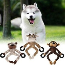 Unstuffed Plush Dog Puppy Pet Squeaker Toys Squeaky Funny Sound Play Chew Toy - $8.15