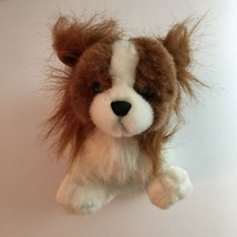 Webkinz Papillon Dog HM620 Sealed Code GANZ Brown White Plush New - $34.95