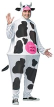 Cow Costume Hoopster Adult Men Women Animal Halloween Party One Size GC6620 - £47.66 GBP