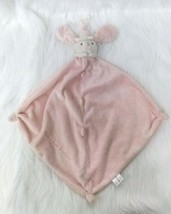 Baby Soft Security Blanket Lovey Pink Bunny Rabbit w Hat Knotted Corners... - $9.00