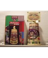BUDWEISER CS360 1998 NASCAR 50th ANNIVERSARY LID STEIN - $47.95