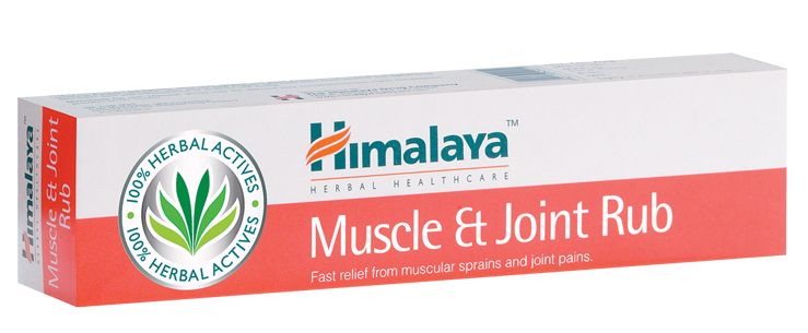 Himalaya Muscle and Joint Rub 20g for backaches, muscular sprains and joint pain