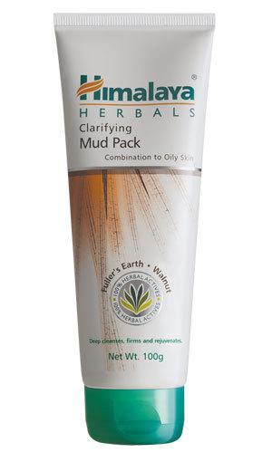 Himalaya Clarifying Mud Pack 50g rejuvenates facial skin by absorbing excess oil