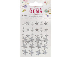 Darice Self-Stick Gems Star Shape Stickers, 48 Count #1210-61