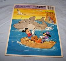 1983 Walt Disney's Mickey, Minnie Golden Frame-Tray Puzzle-Fishing, Shark - $7.25