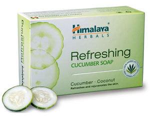 Himalaya Refreshing Cucumber Soap 75g nut grass,turmenic,cucumber & coconut oil