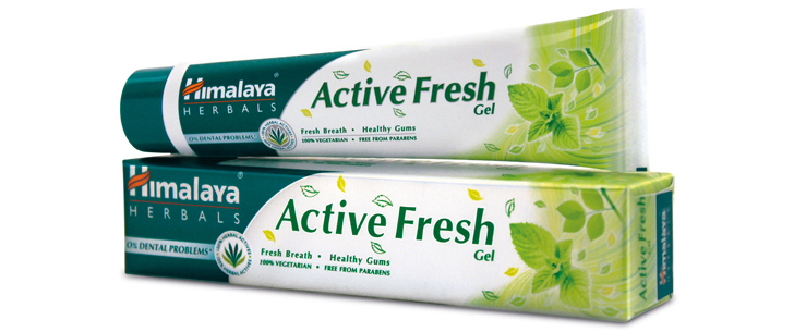Himalaya Active Fresh Gel with anti-microbial property retail price 15.49$
